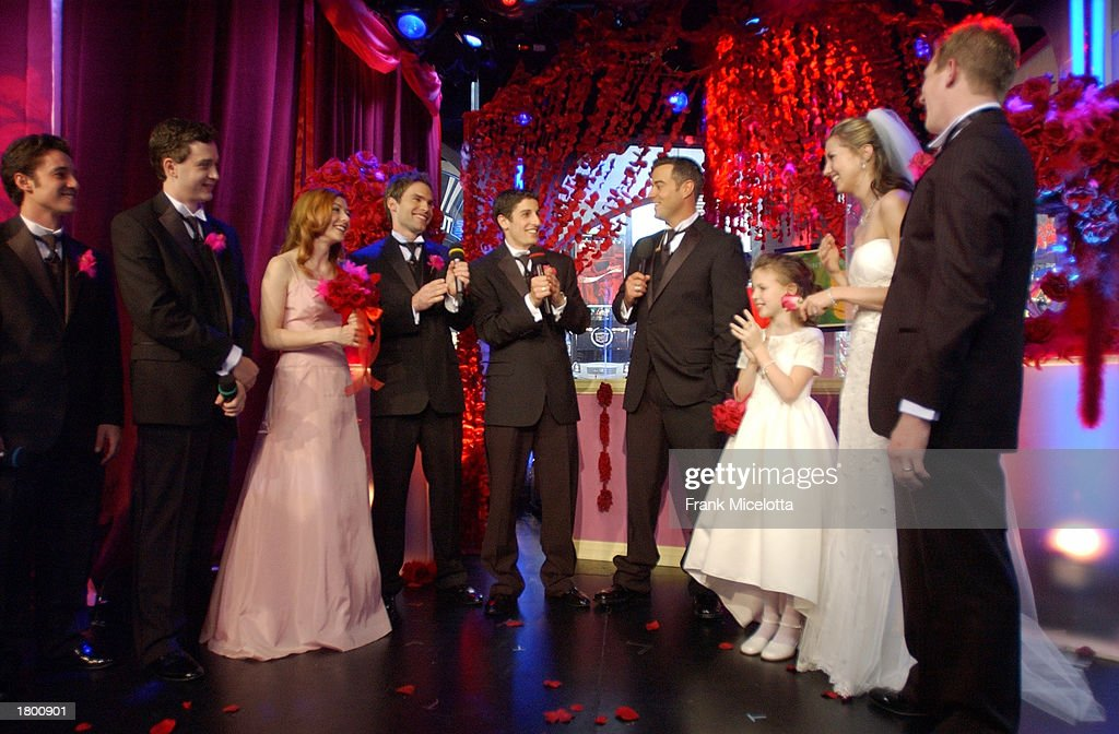 American Wedding Cast.The Cast Of American Wedding Carson Daly And Bride And Groom Erica