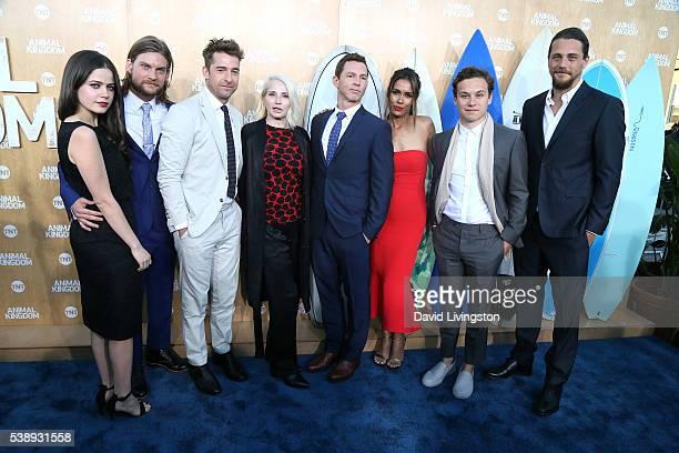 The cast of Animal Kingdom attend the premiere of TNT's Animal Kingdom at The Rose Room on June 8 2016 in Venice California