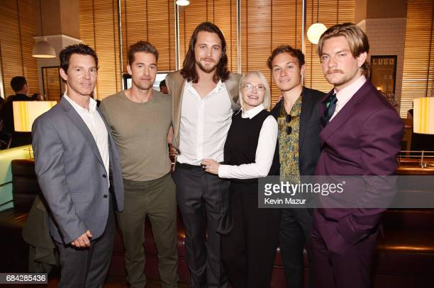The cast of Animal Kingdom Shawn Hatosy Scott Speedman Ben Robson Ellen Barkin Jake Weary and Finn Cole attends the Turner Upfront 2017 green room at...