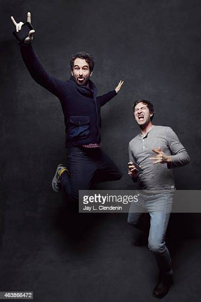 The cast of 'Animals' Mark Duplass and Jay Duplass pose for a portrait for the Los Angeles Times at the 2015 Sundance Film Festival on January 24...