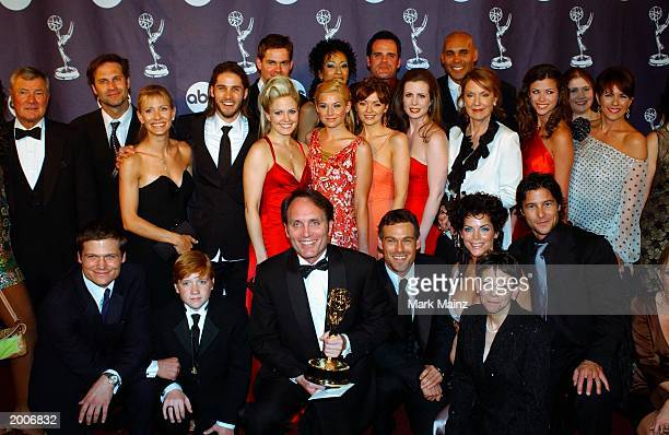 """The cast of As The World Turns attend the """"30th Annual Emmy Awards"""" press room May 16, 2003 at Radio City Music Hall in New York City."""