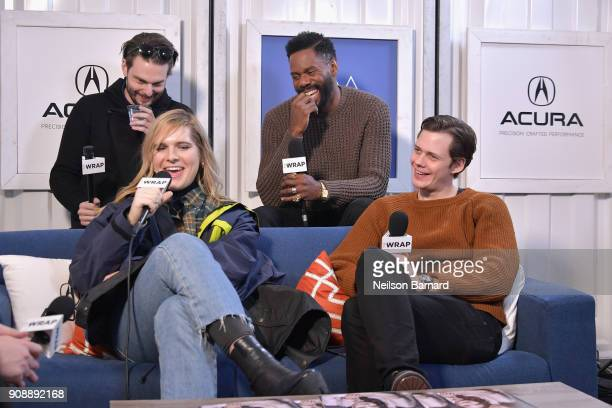 The cast of 'Assassination Nation' attends the Acura Studio at Sundance Film Festival 2018 on January 22 2018 in Park City Utah