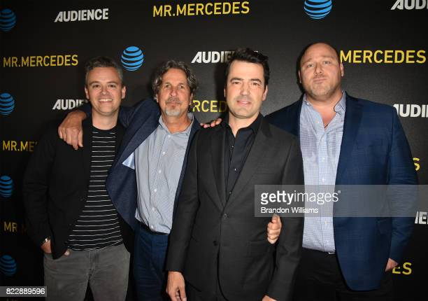 The cast of ATT AUDIENCE Network's Loudermilk actor Bobby Mort director Peter Farrelly actor Ron Livingston and actor / comedian Will Sasso during...