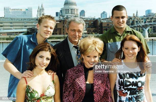 The cast of Australian soap Home And Away Chris Egan Norman Coburn and Zac Drayson Ada Nicodemou Emily Symons and Kimberley Cooper * in London The...