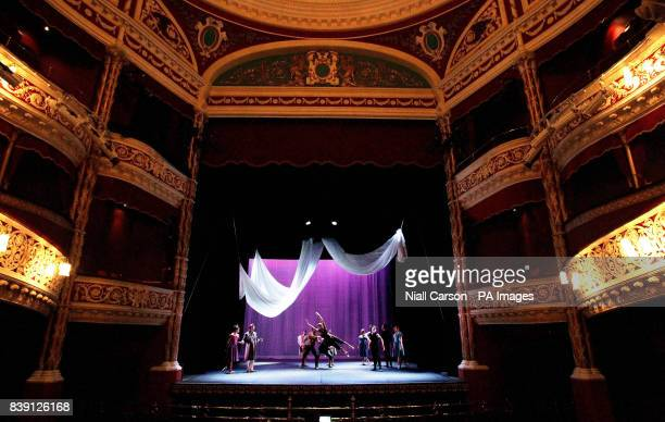 The cast of Ballet Ireland's Scheherazade and 1001 Arabian nights during a dress rehearsal for the show which runs at the Gaiety Theatre from October...