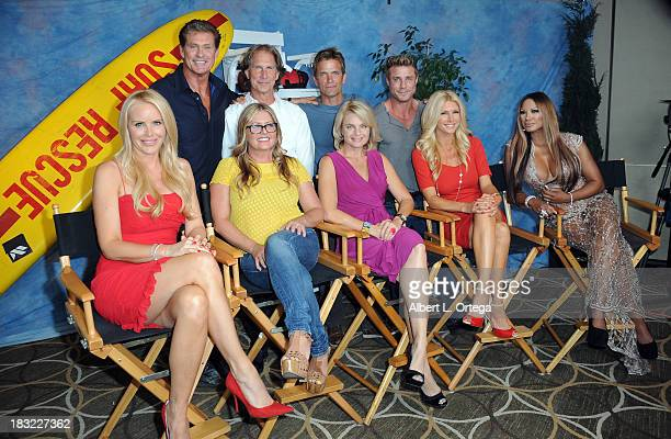The cast of Baywatch Actors David Hasselhoff Parker Stevenson David Chokachi Jaason Simmons Gena Lee Nolin Nicole Eggert Erika Eleniak Brande...