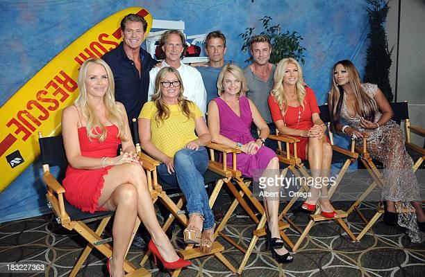The cast of Baywatch Actors David Hasselhoff Parker Stevenson David Chokachi Jaason Simmons Gena Lee Nolin Nicole Eggert Erika Eleniak Brande...