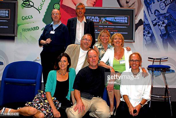 The Cast of BBC Television show Allo Allo Gordon Kaye Guy Siner Richard Gibson and Kim Hartman at the Summer Memorabilia Show at the NEC Birmingham...