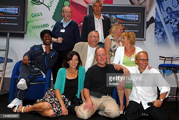 The Cast of BBC Television show Allo Allo Gordon Kaye Guy Siner Richard Gibson Kim Hartman and Danny JohnJules at the Summer Memorabilia Show at the...