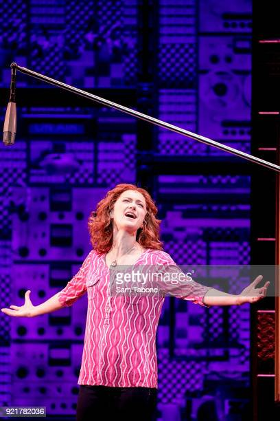 The cast of Beautiful Esther Hannaford performs during a full dress rehearsal for 'Beautiful The Carole King Musical' ahead of the premiere at Her...