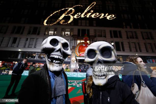 The cast of Beetlejuice The Musical during the 93rd Annual Macy's Thanksgiving Day Parade rehearsals at Macy's Herald Square on November 25 2019 in...