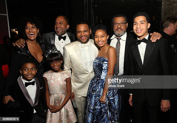 The cast of 'Blackish' attend the 47th NAACP Image Awards presented by TV One at Pasadena Civic Auditorium on February 5 2016 in Pasadena California