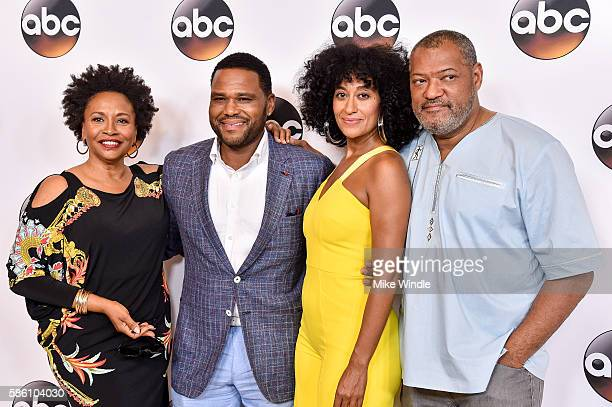The cast of 'Blackish' attends the Disney ABC Television Group TCA Summer Press Tour on August 4 2016 in Beverly Hills California
