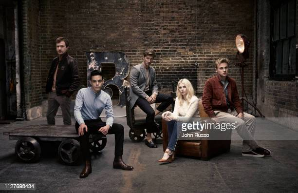 The Cast of Bohemian Rhapsody from left to right Joseph Mazzello Rami Malek Gwilym Lee Lucy Boynton and Ben Hardy are photographed on June 14 2018 in...