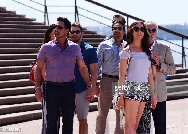 The cast of Bold and the Beautiful film at the Opera House on February 13 2017 in Sydney Australia