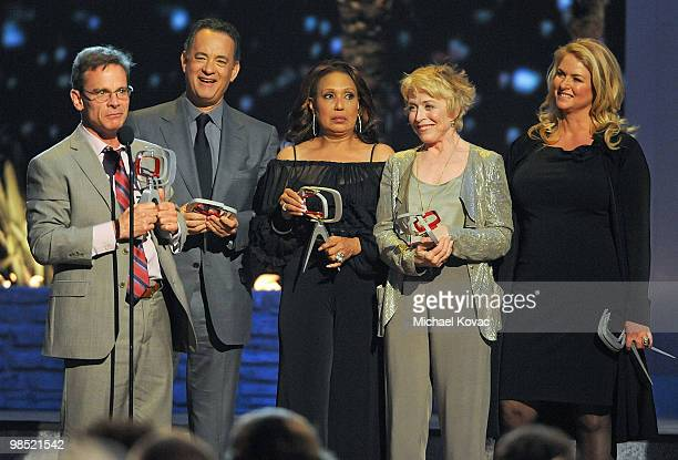 The cast of 'Bosom Buddies' including Tom Hanks, Peter Scolari, Donna Dixon, Holland Taylor, and Telma Hopkins are honored at the 8th Annual TV Land...