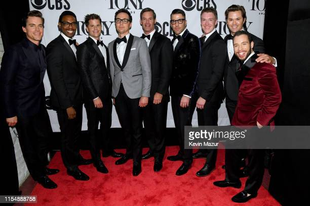 The cast of Boys in the Band pose backstage at the 73rd Annual Tony Awards at Radio City Music Hall on June 09 2019 in New York City