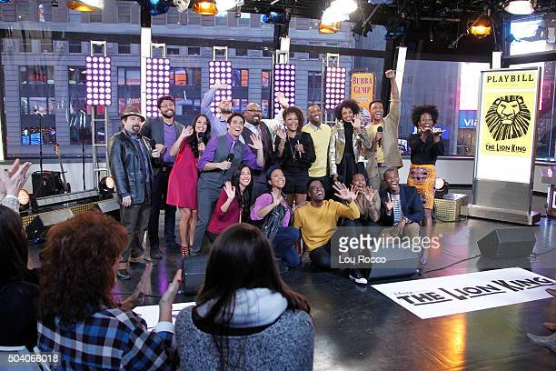 AMERICA The Cast of Broadway's Aladdin and The Lion King perform live on Good Morning America 1/8/16 airing on the Walt Disney Television via Getty...