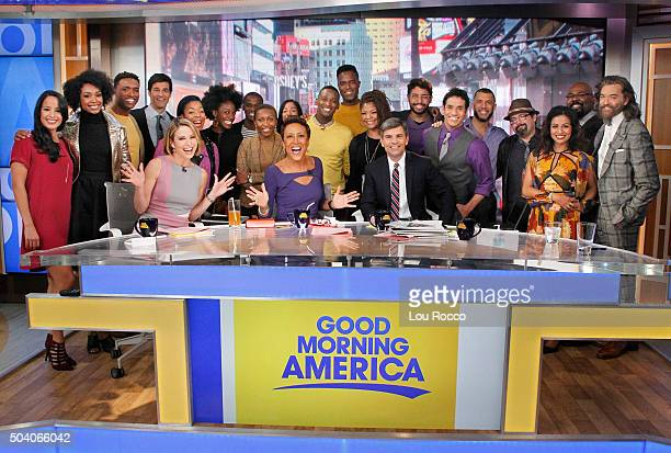 AMERICA The Cast of Broadway's Aladdin and The Lion King perform live on 'Good Morning America' 1/8/16 airing on the ABC Television Network