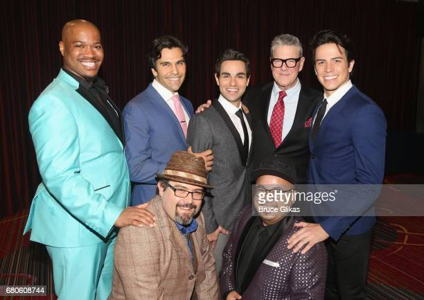The cast of Broadway's 'Aladdin' pose at the The 2017 Actors Fund Gala honoring Danny DeVito and Sally Field at The Marriott Marquis Times Square on...