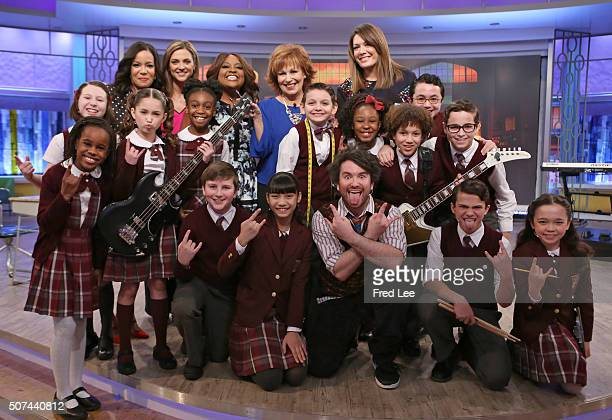 """The cast of Broadway's """"School of Rock"""" performed today, Friday, January 29, 2016 on """"The View."""" Walt Disney Television via Getty Images's """"The View""""..."""