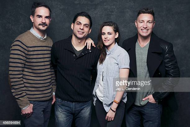 The cast of 'Camp X Ray' Peter Sattler Payman Maadi Kristen Stewart and Lane Garrison are photographed for Los Angeles Times on January 18 2014 in...