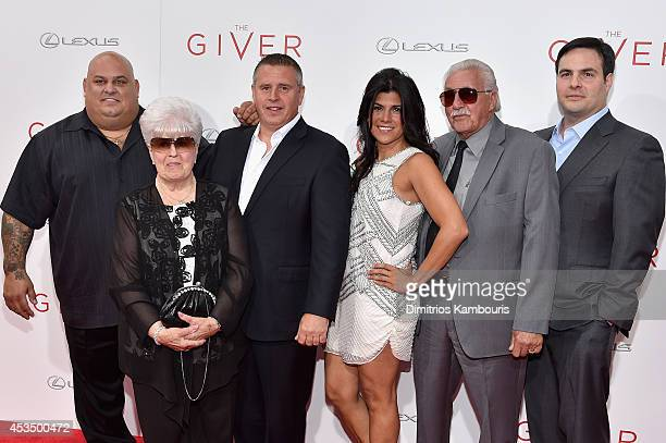 The cast of Cement Heads attends The Giver premiere at Ziegfeld Theater on August 11 2014 in New York City
