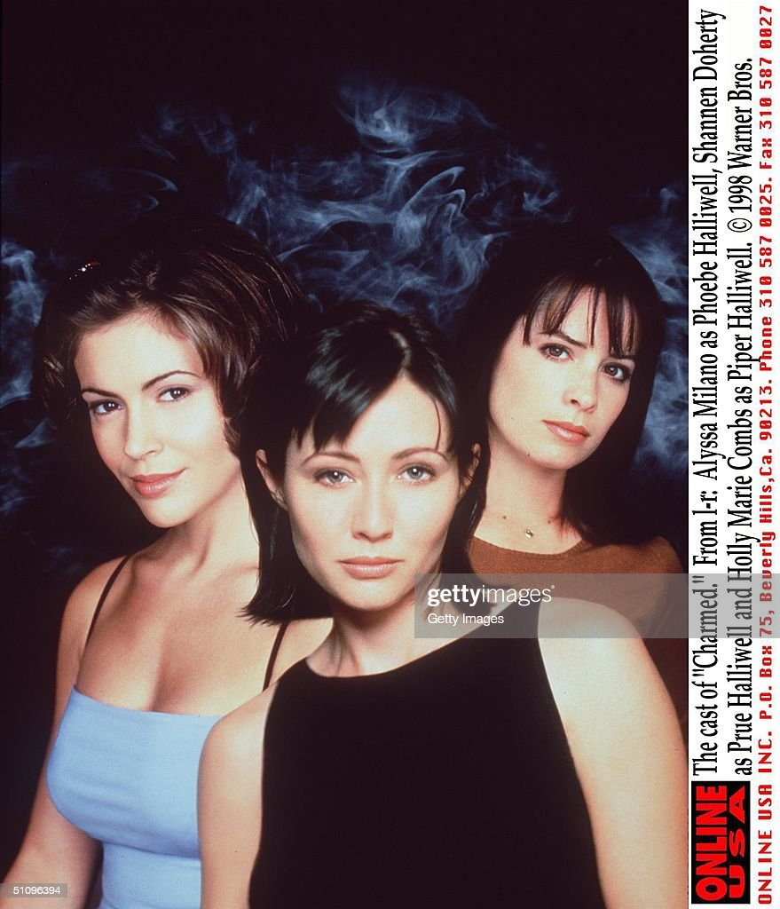 The Cast Of Charmed From L R: Alyssa Milano As Phoebe Halliwell Shannen Doherty As Prue Halliwel : News Photo