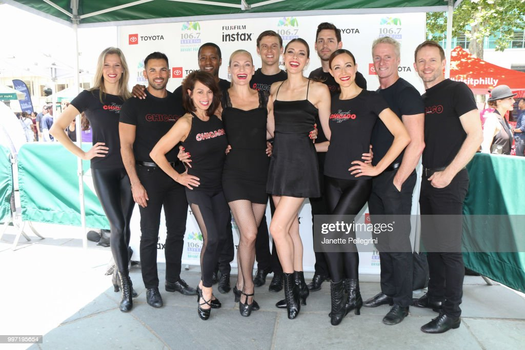 The cast of 'Chicago' attends 106.7 LITE FM's Broadway In Bryant Park at Bryant Park on July 12, 2018 in New York City.