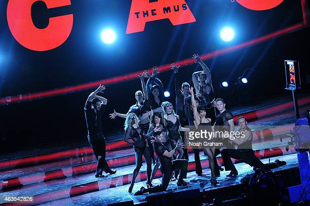 The cast of Chicago the Musical performs during the 64th NBA AllStar Game presented by Kia as part of the 2015 NBA AllStar Weekend on February 15...