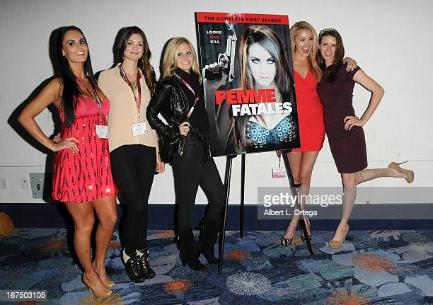 The cast of Cinemax's Femme Fatales participate in WonderCon Anaheim 2013 Day 1 held at Anaheim Convention Center on March 29 2013 in Anaheim...