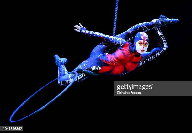 The cast of Cirque Du Soleil 'OVO' during their premiere performance at Manchester Arena on September 26 2018 in Manchester England