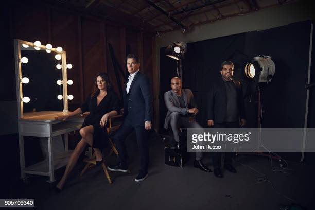 Marcia Gay Harden Rob Lowe Boris Kodjoe and Luis Guzman are photographed for Emmy Magazine on March 14 2017 in Los Angeles California PUBLISHED IMAGE