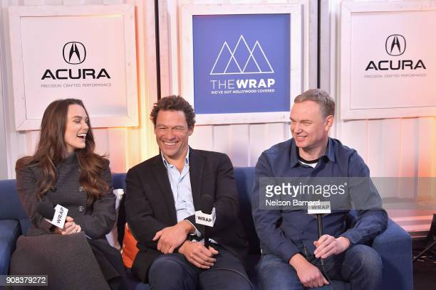 The cast of 'Collette' attends the Acura Studio at Sundance Film Festival 2018 on January 21 2018 in Park City Utah