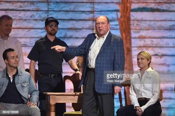 The cast of 'Come From Away' performs onstage during the 2017 Tony Awards at Radio City Music Hall on June 11 2017 in New York City