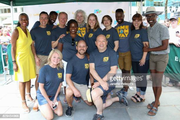 The cast of 'Come From Away' with Host 1067 LITE FM's Helen Little and cohost Billy Porter attend 1067 Lite FM's Broadway In Bryant Park 2017 on...