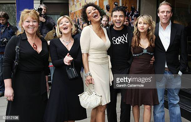 The Cast of Coronation Street including Wendi Peters Jane Danson Naomi Russell Ryan Thomas Samia Ghadie arrive at the Television Radio Industries...