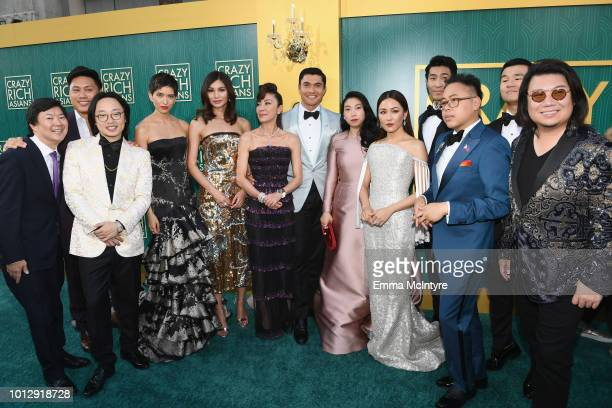 The cast of Crazy Rich Asians Ken Jeong Jon M Chu Jimmy O Yang Sonoya Mizuno Gemma Chan Michelle Yeoh Henry Golding Awkwafina Constance Wu Chris Pang...