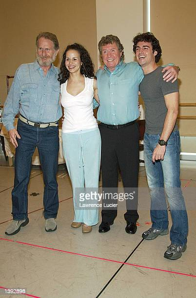 The cast of Dance of the Vampires Renee Auberjonois Mandy Gonzalez Michael Crawford and Max Von Essen appear for its preview September 18 2002 in New...