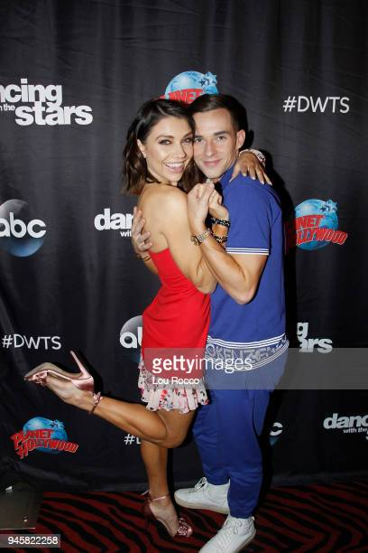 AMERICA The cast of 'Dancing with the Stars Athletes' gather at Planet Hollywood in Times Square after their appearance on 'Good Morning America'...