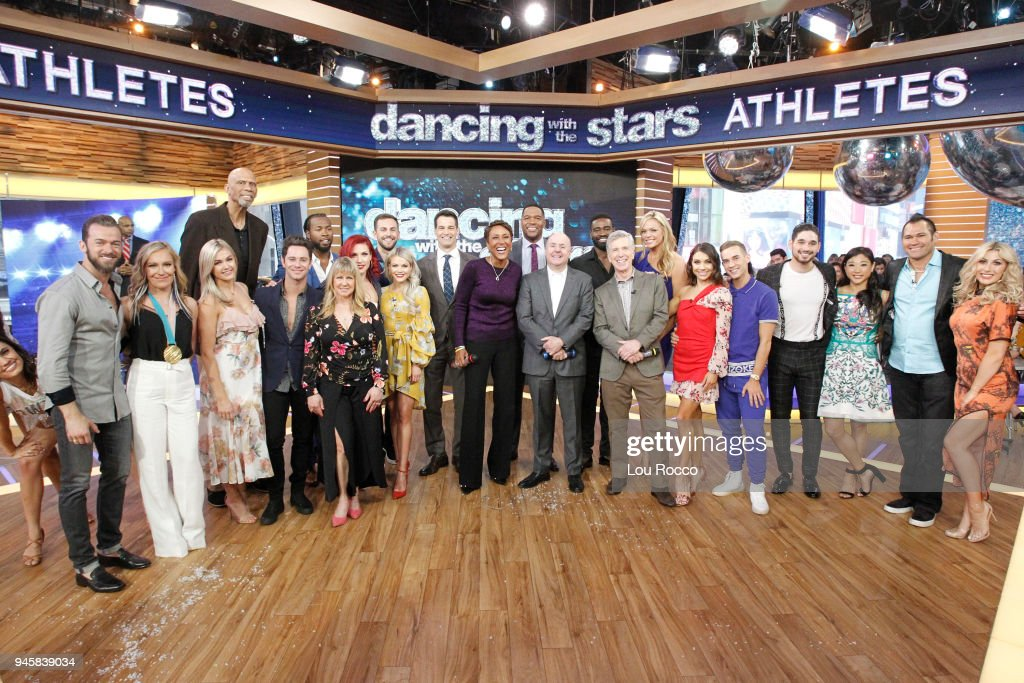 AMERICA - The cast of 'Dancing with the Stars: Athletes' is announced live on 'Good Morning America,' Friday, April 13, 2018, airing on the ABC Television Network. DWTS