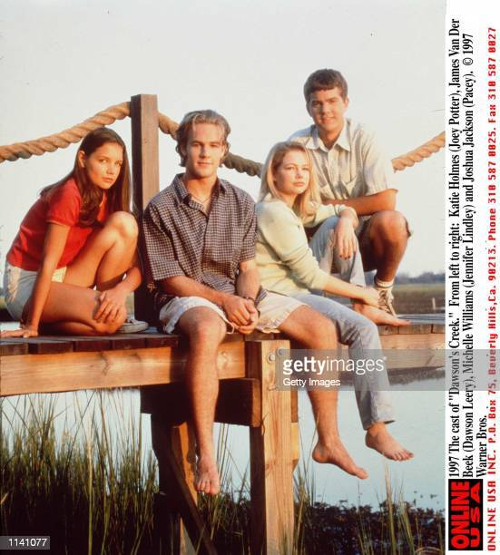 The cast of 'Dawson's Creek' From left to right Katie Holmes James Van Der Beek Michelle Williams and Joshua Jackson