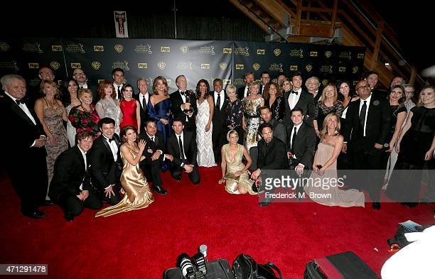 The cast of 'Days of Our Lives' poses in the press room during The 42nd Annual Daytime Emmy Awards at Warner Bros Studios on April 26 2015 in Burbank...