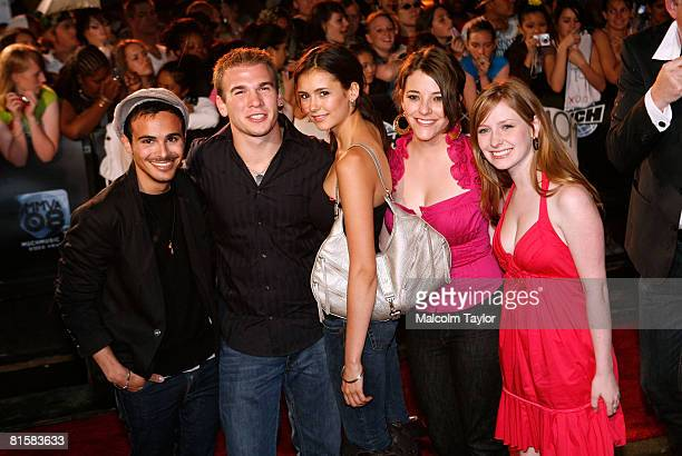 The cast of Degrassi The Next Generation arrive on the red carpet for the 2008 Muchmusic Video Awards held at Much world HQ at the City TV building...