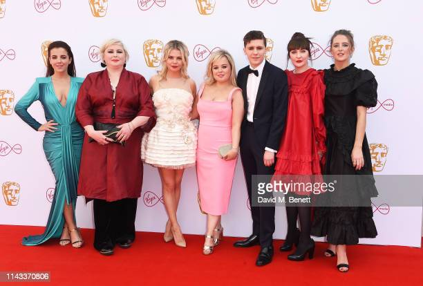 The cast of Derry Girls Jamie-Lee O'Donnell, Siobhan McSweeney, Saoirse-Monica Jackson, Nicola Coughlan, Dylan Llewellyn, Kathy Kiera Clarke and...