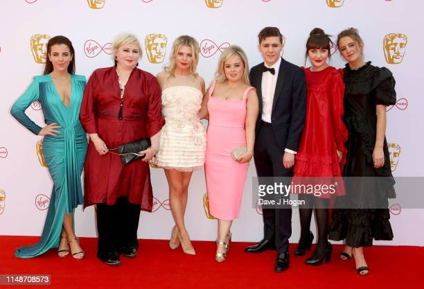 The cast of Derry Girls JamieLee O'Donnell Siobhan McSweeney SaoirseMonica Jackson Nicola Coughlan Dylan Llewellyn Kathy Kiera Clarke and Louisa...