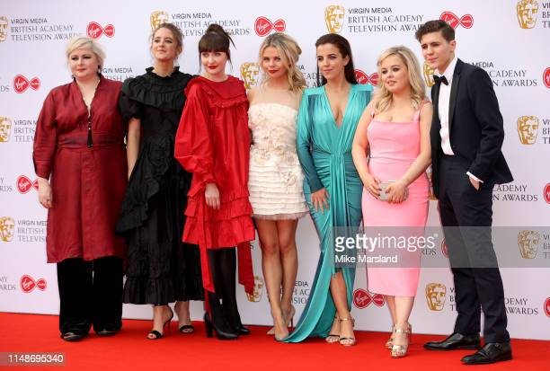 The cast of Derry Girls Siobhan McSweeney Louisa Harland Kathy Kiera Clarke SaoirseMonica Jackson JamieLee O'Donnell Nicola Coughlan and Dylan...