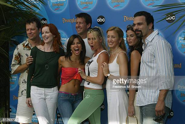The cast of 'Desperate Wives' attend the ABC Primetime Preview Weekend 2004 at Disneyland on September 11 2004 in Anaheim California