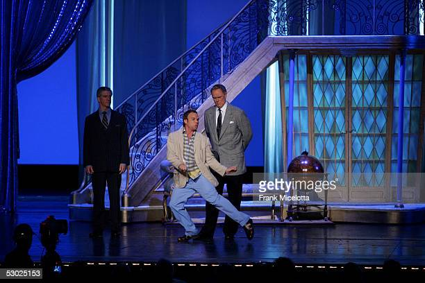 The cast of Dirty Rotten Scoundrels perform onstage at the 59th Annual Tony Awards at Radio City Music Hall June 5 2005 in New York City