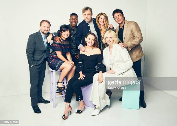 The cast of Disney's 'Star Wars The Last Jedi' Gwendoline Christie Daisy Ridley John Boyega Mark Hamill Laura Dern Kelly Marie Tran Benicio del Toro...